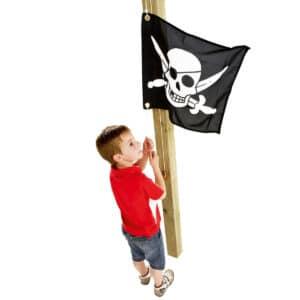 Steag cu sistem de ridicare